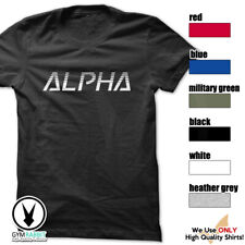 Alpha c319 T-Shirt Workout Gym BodyBuilding Weight Lifting Fitness Mma