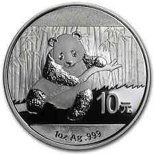 2014 1 oz Silver Chinese Panda Bear *BU* 10 Yuan Coin in Original Capsule