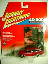 Johnny Lightning Ad Rods Chevy 1955 Chevrolet Nomad -Red 1:64 HTF