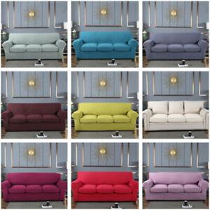 Universal Sofa Cover Cushion Cover Set Corn Fleece Stretchy Slipcover Protector