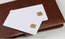 100 PCs Contact IC card 4428 Chip Smart Card  PVC  Blank White