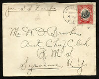 CANAL ZONE to USA censor cover 1910 - VF