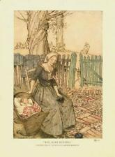 Bye, Baby Bunting  -  Arthur Rackham   -  Mother and Baby  -   Vintage Print