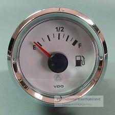 VDO medidor de gasolina para tauchrohr-instrumento 12v Tube level gauge anillo de cromo