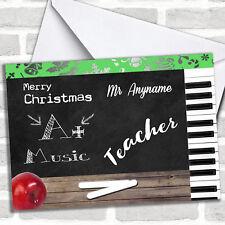 Music Teacher Christmas Customised Card
