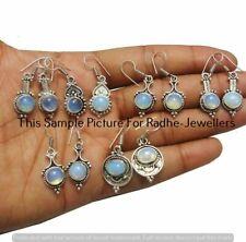 Opalite Gemstone 5 Pair Wholesale Lots 925 Sterling Silver Plated Earrings