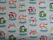 """Pack N Play Cover/Flannel/ Large (27X39"""") - Penguins & Snowmen In Snowglobes"""