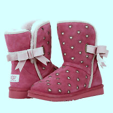 BRAND NEW UGG K JOLEIGH DARK DUSTY ROSE GIRLS BOOTS,  SIZE 4