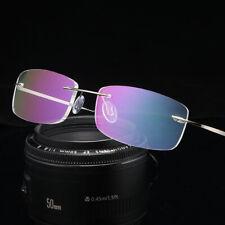 Frameless B Titanium Alloy Anti Blue Reading glasses Flexible for Reader Silver