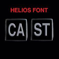 Stainless Steel CAST 2 Piece MC Club Biker Ring Set Helios font Custom size