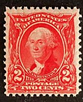 US Stamps, Scott #301 2c George Washington 1903 F/VF M/NH (191) Watermark