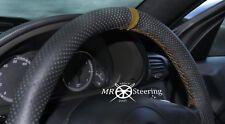 Se adapta a Mercedes C W203 00-07 Cubierta del Volante Cuero Perforado + Correa Marrón