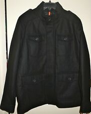 """DOCKERS Men's 4-Pocket Military Jacket """"BLACK"""" Size XL New with Tags"""