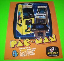 Midway PAC-MAN 1980 Original NOS Classic Video Arcade Game Promo Flyer Pac Man