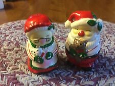 Salt and pepper Shaker Set Santa and Mrs. Santa