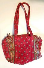 Vintage Vera Bradley Red Floral Quilted Duffel Bag overnight suitecase or Purse