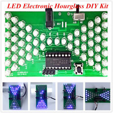 LED Electronic Hourglass DIY Kit Funny Electric Production Kits PCB Board