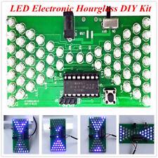 LED Electronic Hourglass DIY Kit Funny Electric Production Kits PCB Board UK