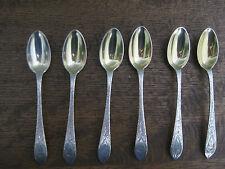 "Tiffany Sterling Silver 4 3/4"" Demitasse Spoons  Set of 6 Gold-Washed Bowls"