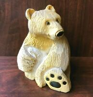 "Artesania Rinconada Polar Bear Female Yellow White 3.5"" Figurine Uruguay #79"
