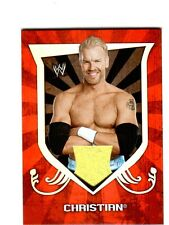 WWE Christian 2011 Topps Classic Event Worn Shirt Relic Card Yellow