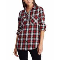 Ralph Lauren Women's Plaid Roll Tab Sleeve Button-Up Shirt, Size L, $90, NwT