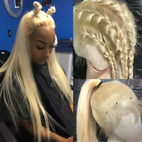 100% Real Indian Human Hair Lace Front Wig Full Lace Wigs Blonde Straight Wavy s
