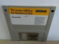 "ITHistory (1990) IBM Software: NORTON ANTIVIRUS V1.0 (Symantec) 3.5"" No Manual**"