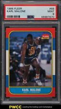 1986 Fleer Basketball Karl Malone ROOKIE RC #68 PSA 9 MINT