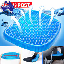 1pcs Honeycomb GEL Seat Comfort Cushion Back Support Spine Protector Pain Relief