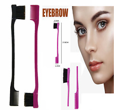 Double Sided Edge Control Hair Brush Comb Combo Pack 2 Pieces Pink and BlacK UK*
