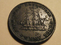 #2756 Canada / New Brunswick; 1/2 Penny Token 1843