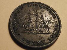 #2756 Canada / New Brunswick; 1/2 Penny Token 1843