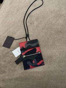 Valentino Garavani  VLTN neck pouch, Dark Blue, Brand New, Boxed, Authentic