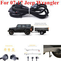 "For 07-17 Jeep Wrangler JK 2/4 , 65"" Trailer Hitch Wiring Harness Kit 4-Way"