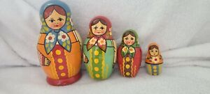 Russian Nesting Dolls Vintage 4 pc Collectible