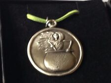 """Baba Yaga dr108 the wise o  Made From English Pewter On 18"""" Green Cord Necklace"""