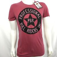 Professional Bull Riders T Shirt Men's Size S Red Sheriffs Star Logo Tee PBR