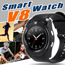 V8 Bluetooth Smart Watch Phone Mate Round Touch Screen for IOS Android IPhone