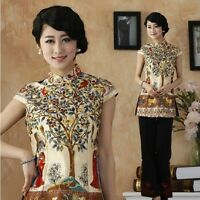 Hot Sale New Style Chinese Tradition Women's Shirt Blouse Tops M L XL XXL 3XL 4X