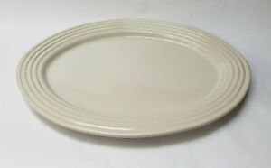 Pampered Chef Family Heritage Stoneware Platter Turkey Beige New Traditions