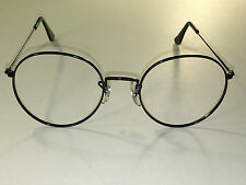 52[]21 VINTAGE B&L RAY-BAN BLACK ROUND AVIATOR SUNGLASSES/EYEGLASS FRAMES ONLY