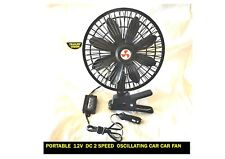 PORTABLE 12V DC 2 SPEED OSILLATING CAR FAN