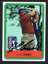 J.C. Snead #26 signed autograph auto 1982 Donruss Golf Trading Card