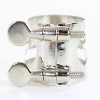 Ted Johnson Model TJ6BLNS Bb Clarinet Ligature in Nickel Silver