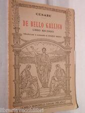 DE BELLO GALLICO Libro Secondo Cesare Angelo Maggi Signorelli 1946 Latino Libro