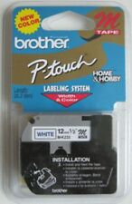 Brother MK233 M 1/2 12mm blue on white Ptouch label tape PT80 PT90 PT100 MK 233