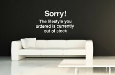 Banksy Wall Stickers Decal 'Sorry! The lifestyle you ordered...' 30cm x 50cm NEW