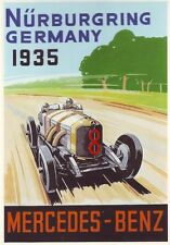 1935 MERCEDES BENZ MOTORE RACING POSTER A3 RISTAMPA
