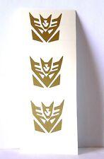 OFFERTA Kit 3 adesivi TRANSFORMERS Autobot Decepticon sticker decal vynil film